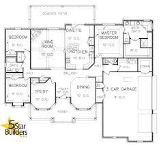 3 Car Garage Floor Plans Floor Plan 5 Star Builders Mustang U0026 Okc