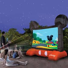 Backyard Movie Theatre by Disney Mickey Mouse Inflatable 10ft Diagonal Outdoor Movie Screen