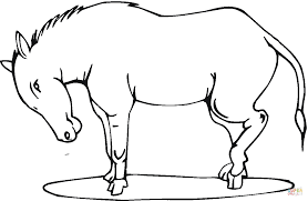 stubborn donkey coloring page free printable coloring pages