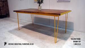 industrial hairpin leg desk vintage industrial desk hairpin legs