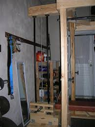 Diy Wood Squat Rack Plans by Homemade Power Rack And Lat Tower