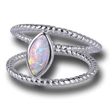 opal stone rings images White opal stone ring in 925 sterling silver lifeisnowemporium png