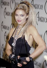madonna goes back to her punk rock days in black bustier dress at