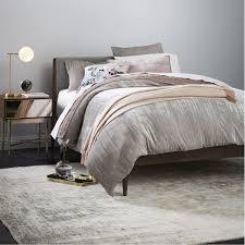 crinkle velvet quilt cover pillowcases platinum west elm au
