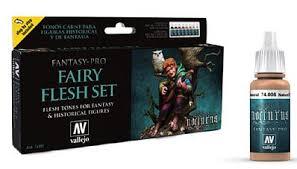 fairy flesh tones fantasy pro paint set 8 colors hobby and model