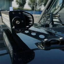 jeep jk hood led light bar auxbeam 22 straight led light bar hood mounting brackets for 07 17