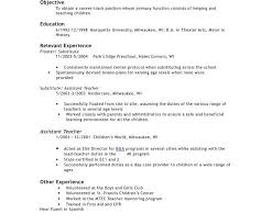 Assistant Teacher Duties For Resume Classy Idea Daycare Teacher Resume 14 Preschool Teacher Resume