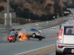 this california road rage car crash is incredible viewing video