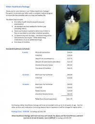 cool animal hospital kitten healthcare package