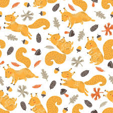 squirrel wrapping paper squirrel pattern stock vector illustration of jump 111244272