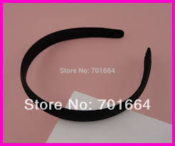 bando headbands 10pcs 18mm black fabric covered plain plastic hair headbands