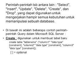 query membuat tabel di sql sql structure query language ppt download