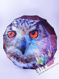etin umbrella product c016 owl printing golf