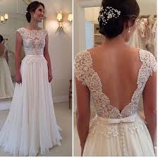 wedding dress simple wedding dress simple a line lace bodice ivory chiffon skirt