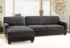 Sectional Sofa Cover Sectional Chaise Sofa Slipcovers Sure Fit Home Decor