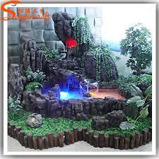 2015 made in china artificial waterfall rocks fiberglass rock for