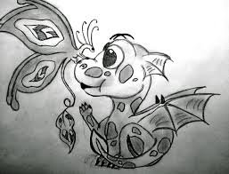 how to draw cute dragons pencil drawing collection