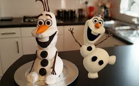 how to make a frozen olaf cake carlytoffle youtube