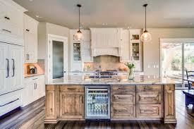 knotty alder kitchen cabinets modern farmhouse knotty alder island dewils custom cabinetry