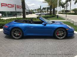 blue porsche 2017 2017 new porsche 911 carrera s cabriolet at porsche west broward