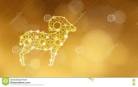 ornamental sheep illuminated by lights festive golden glittering