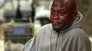 Crying Black Man Meme - sad michael jordan gif find share on giphy