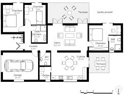 plan de maison avec cuisine ouverte plan maison plain pied best affordable gallery of incroyable