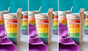 wedding cake jars rainbow wedding cakes mon cheri bridals