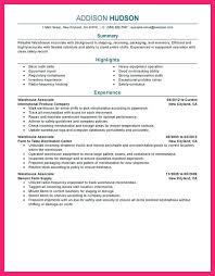 warehouse stocker resume sample warehouse associate resume sample