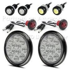 led side marker lights for trucks partsam 2 clear white 2 5 round side marker light 12led for