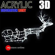 large 3d ice acrylic reindeer sleigh led outdoor christmas light