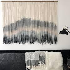 whisker row handmade fiber wall hangings