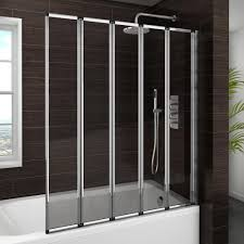 haro folding bath screen 5 fold concertina at victorian plumbing