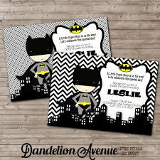 black chevron little super hero baby shower invitation 2