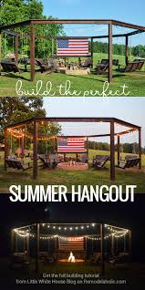 how to make an outdoor firepit build the perfect summer hangout how to build a swingset pergola