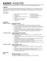 E Resume Examples by Best Help Desk Resume Example Livecareer