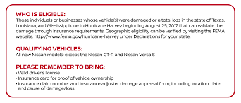nissan finance in texas hurricane flood relief assistance nissan of new braunfels