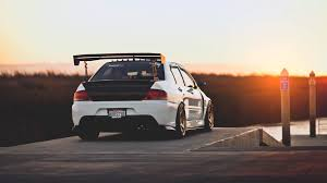 mitsubishi evolution 7 cars mitsubishi lancer evolution vii sunset tuned tuning walldevil