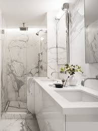 Houzz Black And White Bathroom White Marble Bathroom Houzz