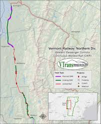 State Of Vermont Map by 10m In Federal Funds Allows Vermont To Extend Rail Service