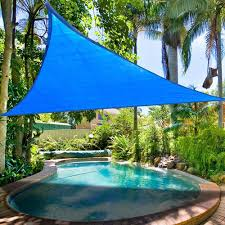 Triangular Patio Awnings 16 5 U0027 Triangle Sun Shade Sail Yard Canopy Patio Garden Uv Blocking