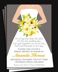 brunch invites wording bridal gown invitation printable or printed with free shipping