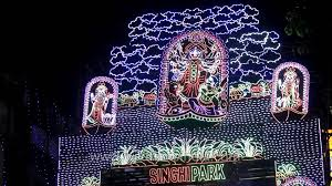 astonishing lights at the gate of a puja pandal in kolkata youtube