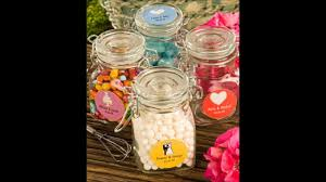 wedding favors personalized glass jars youtube