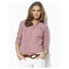 ralph lauren dress shirt womens oxford slim fit striped button