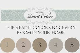 top 5 paint colors for every room in your home favorite paint