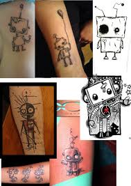 nice day designs my new robot tattoo