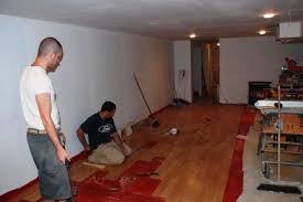 Floating Floor In Basement - basements by victor brubaker builder