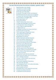 87 free esl mistakes worksheets
