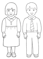 honor your father and mother coloring page behold your little ones nursery manual lesson 14 i will obey